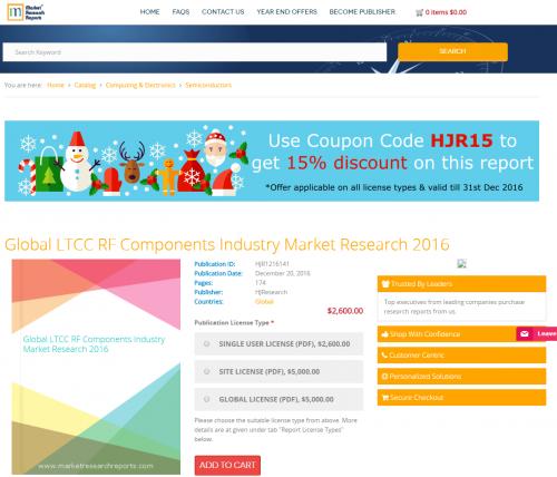Global LTCC RF Components Industry Market Research 2016'
