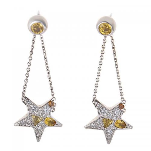 Diamond and Yellow Sapphire Earrings Pomellato'