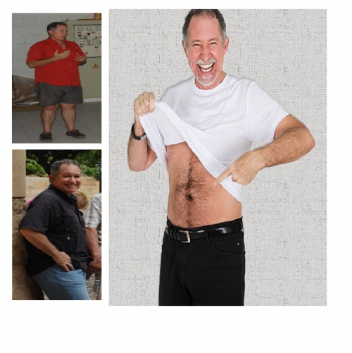 Christopher Carnrick, before and after.'