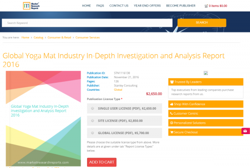 Global Yoga Mat Industry In-Depth Investigation and Analysis'