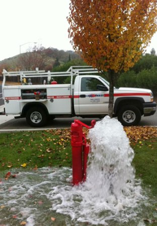 Fire hydrant flow testing'
