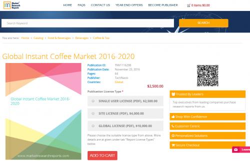 Global Instant Coffee Market 2016 - 2020'
