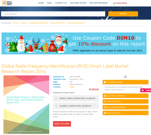 Global Radio Frequency Identification (RFID) Smart Label'
