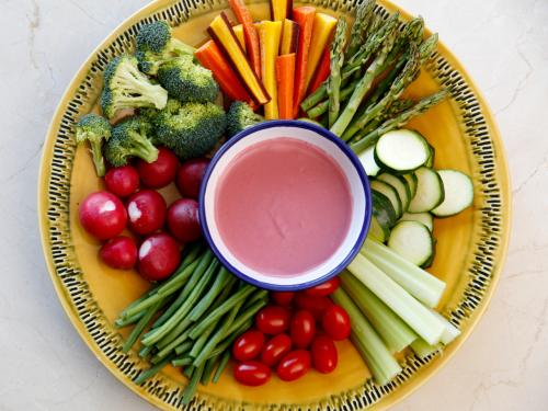 Sesame Kingdom Mediterranean Spread with Vegetable Tray'