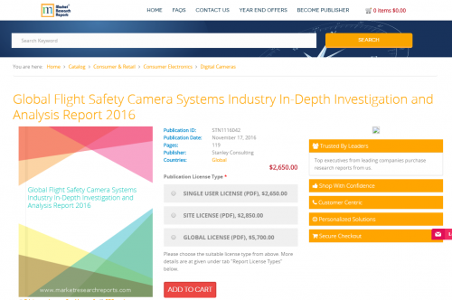 Global Flight Safety Camera Systems Industry In-Depth 2016'