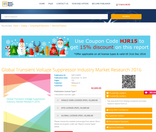 Global Transient Voltage Suppressor Industry Market Research'