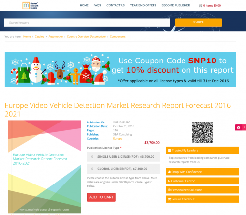 Europe Video Vehicle Detection Market Research Report 2021'