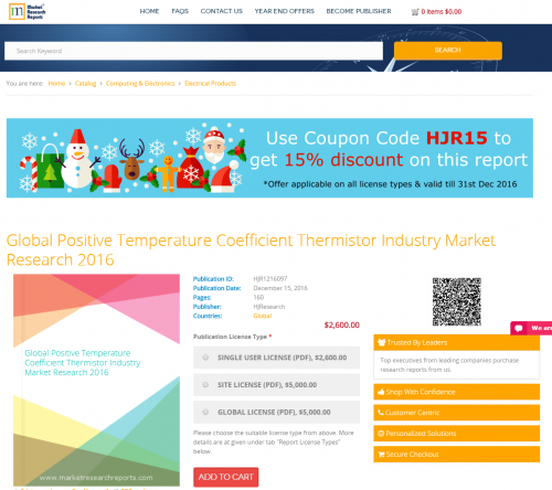 Global Positive Temperature Coefficient Thermistor Industry'