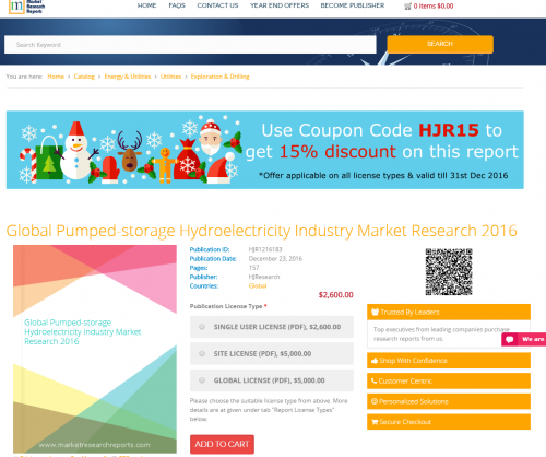 Global Pumped-storage Hydroelectricity Industry Market'
