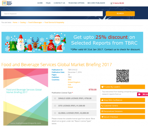 Food and Beverage Services Global Market Briefing 2017'
