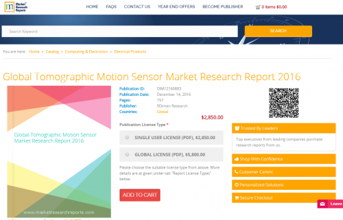 Global Tomographic Motion Sensor Market Research Report 2016'