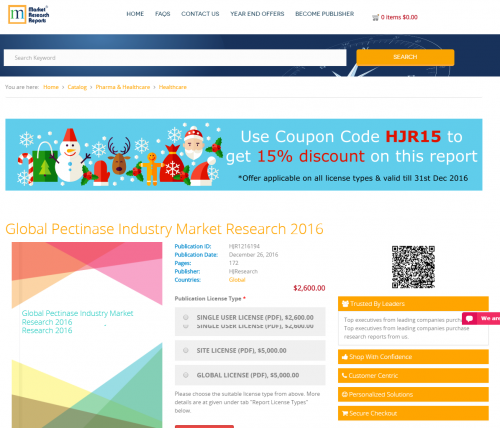 Global Pectinase Industry Market Research 2016'