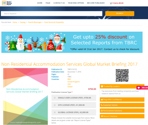 Non-Residential Accommodation Services Global Market 2017'