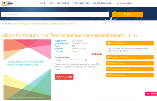 Global Compound Interferomenter Market Research Report 2016'
