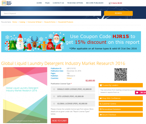 Global Liquid Laundry Detergent Industry Market Research'