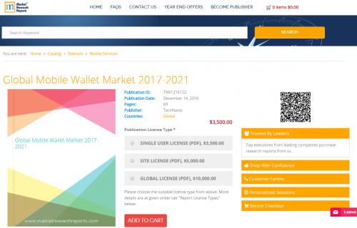 Global Mobile Wallet Market 2017 - 2021'