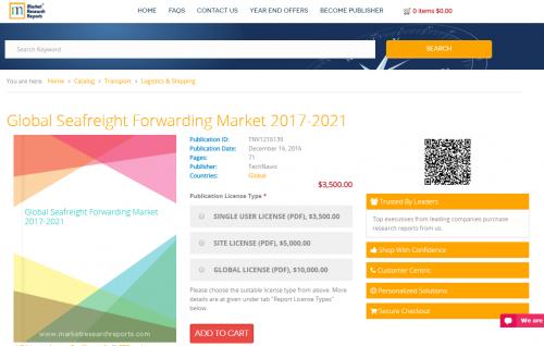 Global Seafreight Forwarding Market 2017 - 2021'