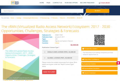The vRAN (Virtualized Radio Access Network) Ecosystem: 2017'