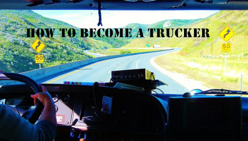 become a trucker'
