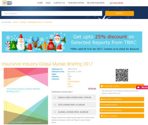 Insurance Industry Global Market Briefing 2017'