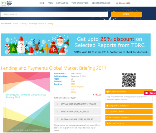 Lending and Payments Global Market Briefing 2017'
