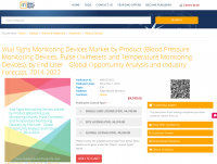 Vital Signs Monitoring Devices Market by Product 2022