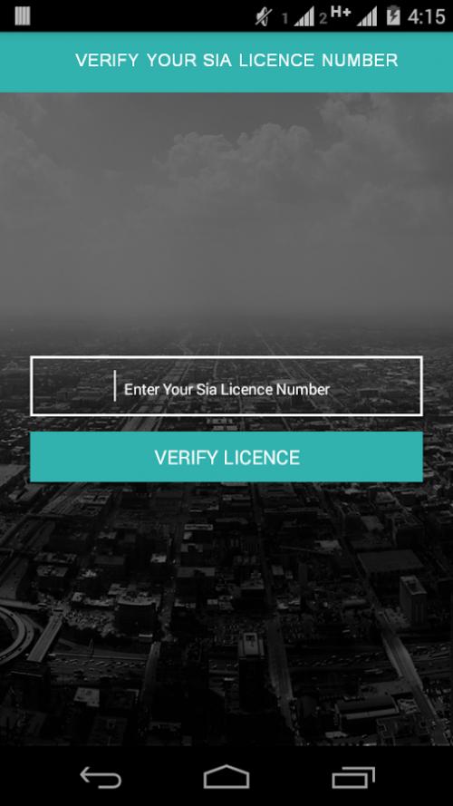 SIA Licence Verifier'