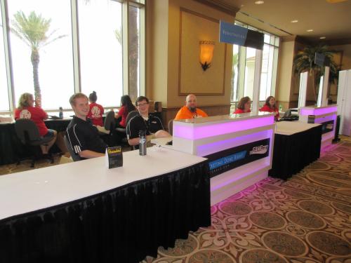 Attendle check-in at TheGameCon.'