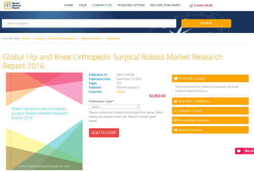 Global Hip and Knee Orthopedic Surgical Robots Market 2016'