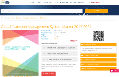 Global Transport Management System Market 2017 - 2021'