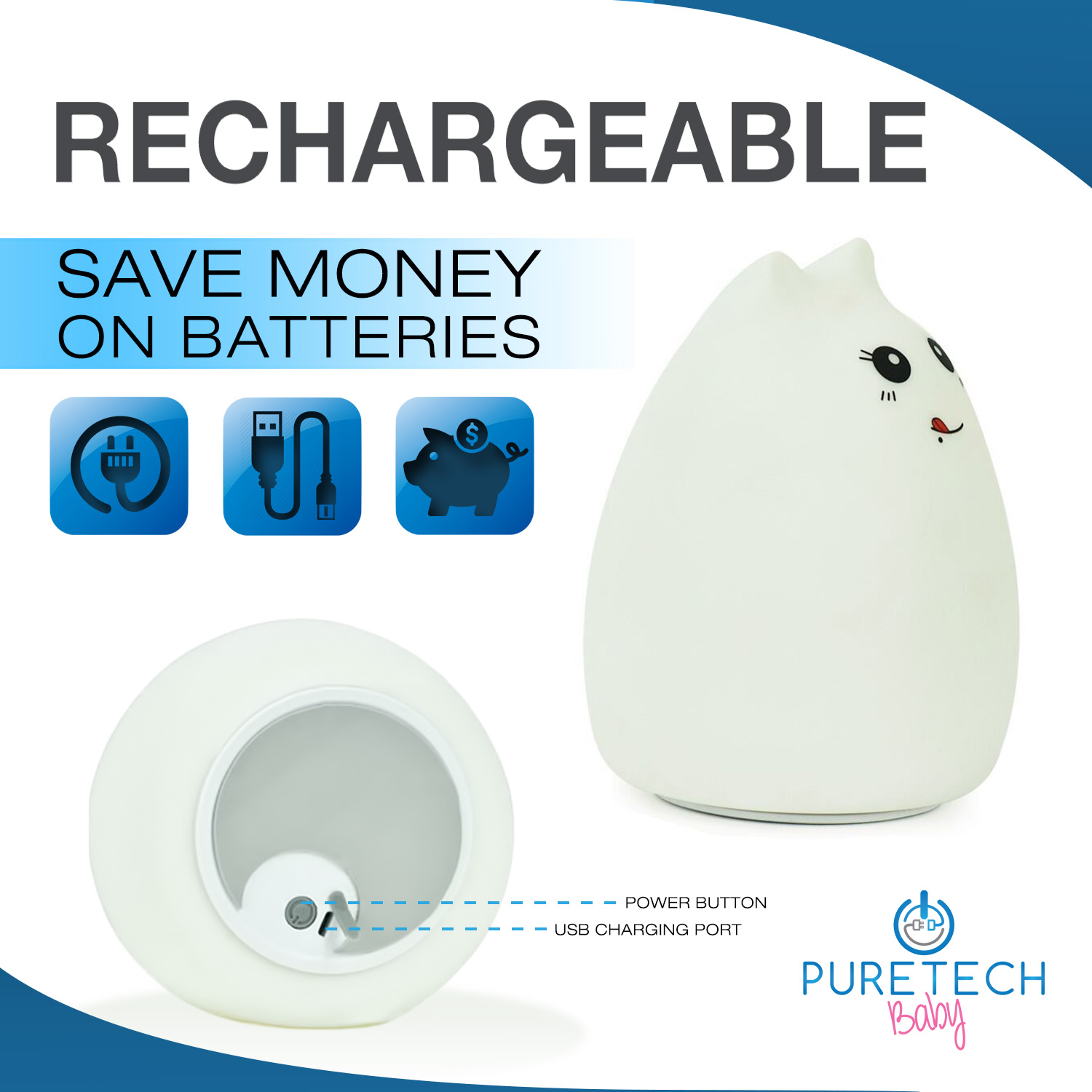 RECHARGEABLE — Does not rely on batteries.