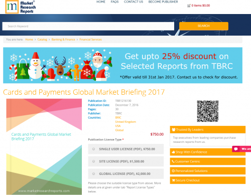 Cards and Payments Global Market Briefing 2017'