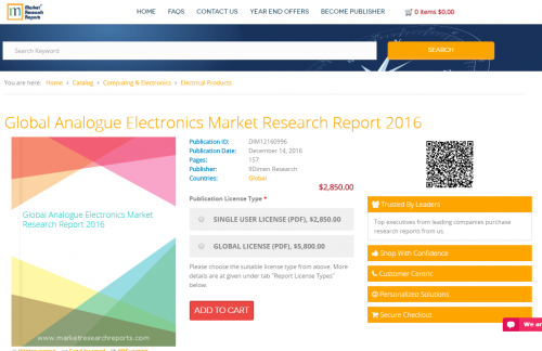 Global Analogue Electronics Market Research Report 2016'