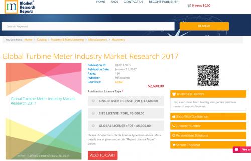 Global Turbine Meter Industry Market Research 2017'