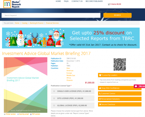 Investment Advice Global Market Briefing 2017'