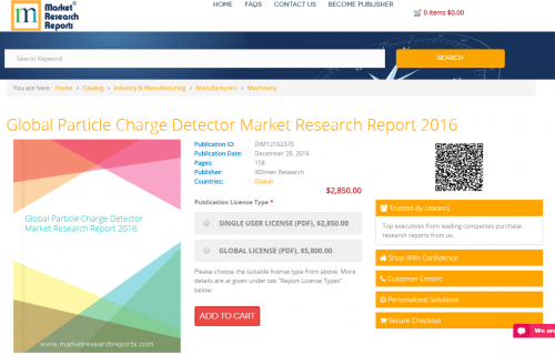 Global Particle Charge Detector Market Research Report 2016'