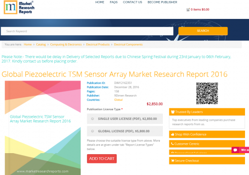 Global Piezoelectric TSM Sensor Array Market Research Report'
