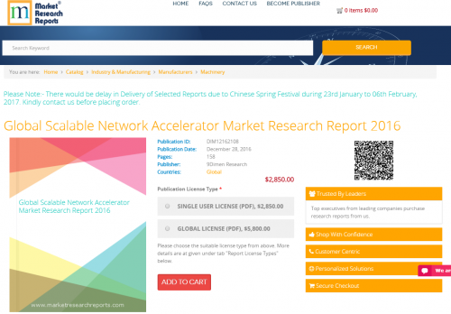 Global Scalable Network Accelerator Market Research Report'