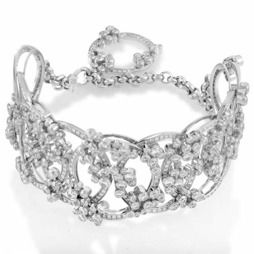 Millenary 18K White Gold Diamond Bracelet by Audemars Piguet'