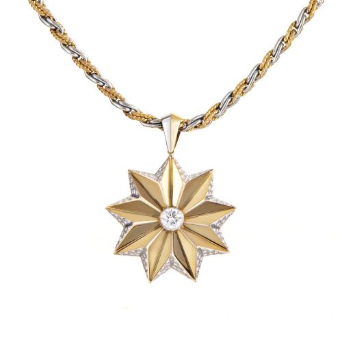 Diamond Star Pendant Necklace by Garrard'