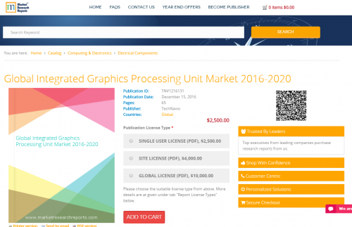 Global Integrated Graphics Processing Unit Market 2016-2020'