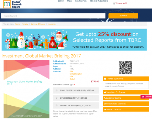 Investment Global Market Briefing 2017'