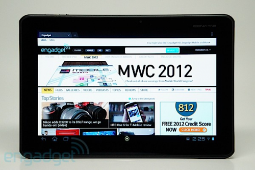 Acer Iconia Tab A100 :Android tablet'