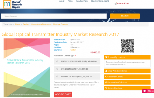 Global Optical Transmitter Industry Market Research 2017'