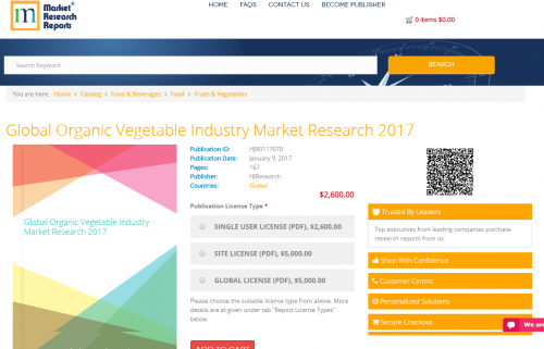 Global Organic Vegetable Industry Market Research 2017'
