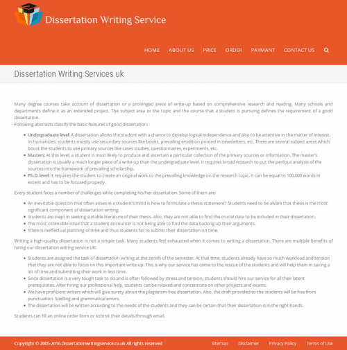 Dissertation Writing Services'