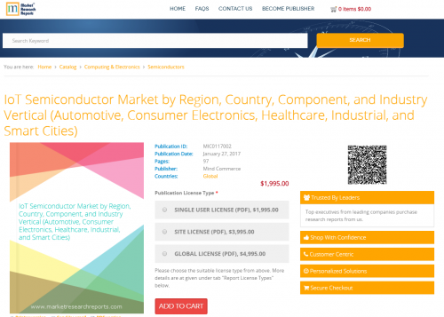 IoT Semiconductor Market by Region, Country, Component'