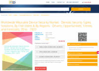 Worldwide Wearable Device Security Market - Devices Security