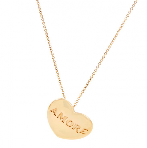 AMORE Heart Pendant Necklace'