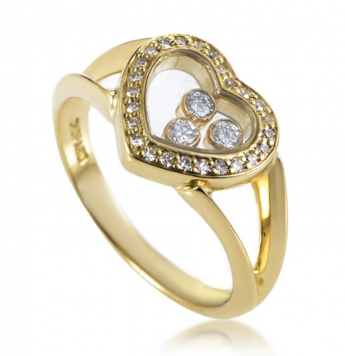 Yellow Gold Heart Ring'